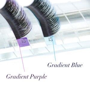 Image 4 - NAGARAKU lot de 5 kits de faux cils individuels, couleur Ombre, violet, bleu, dégradé de couleurs, Premium doux, en Faux vison