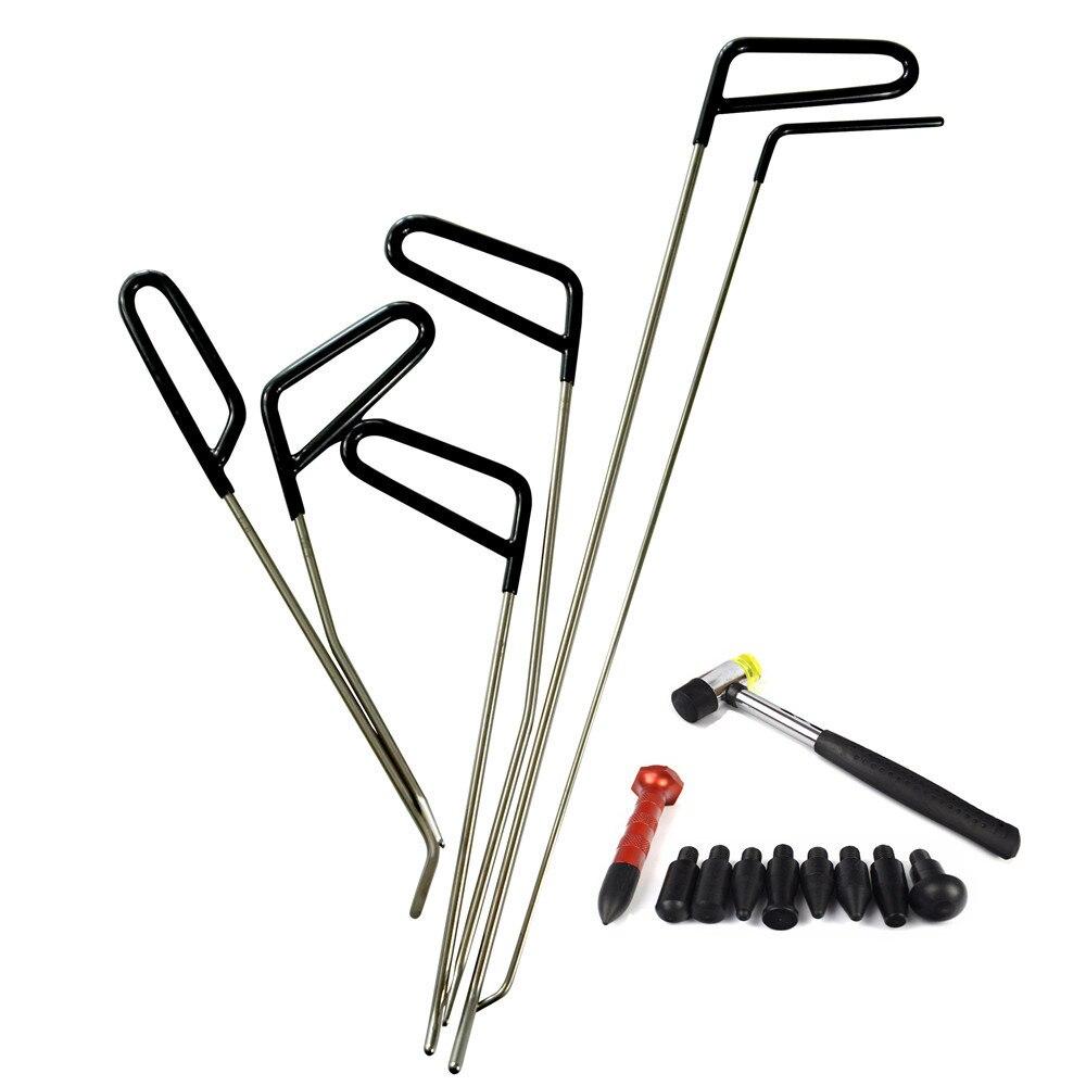 PDR стержней молния инструменты Paintless Дент Ремонт автомобилей Дент удаления PDR Tool Kit град молоток