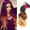 6A unprocessed Brazilian virgin hair weaving ombre Hair 3 bundles body wave best human remy queen hair products body wave