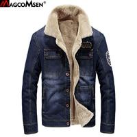 MAGCOMSEN M 4XL Men Jacket And Coats Brand Clothing Denim Jacket Men Jeans Jacket Thick Warm