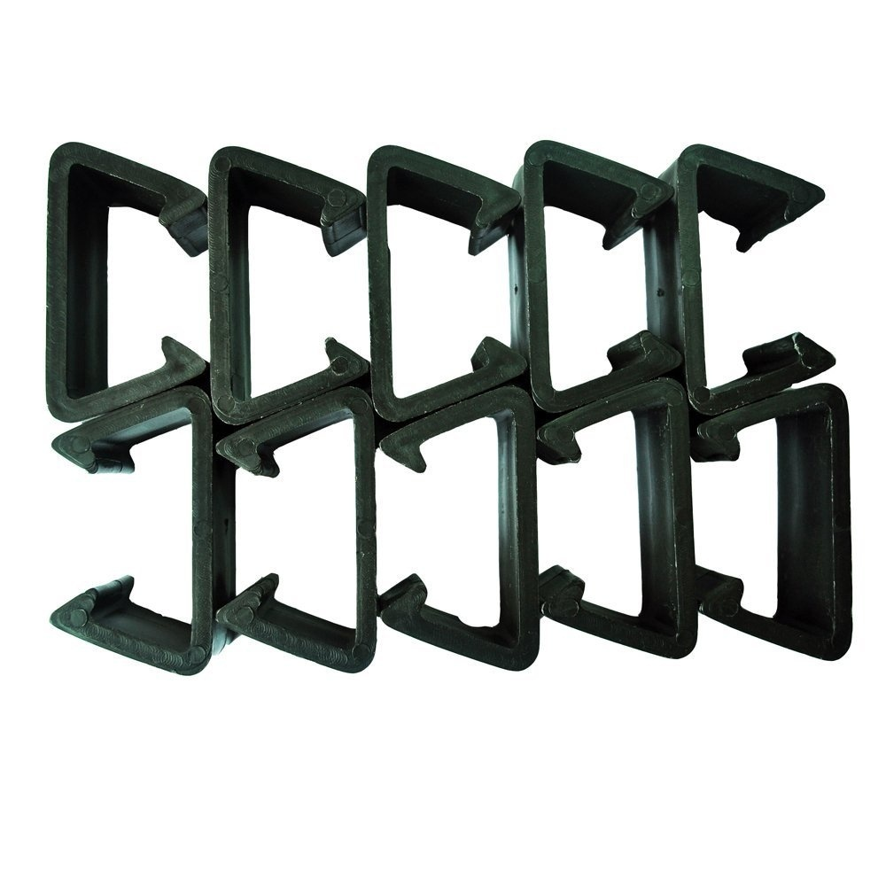 Pack Of 10 Patio Wicker Outdoor Furniture Sectional Sofa Alignment Fasteners Clips Clamps Connectors - Middle And Large Size
