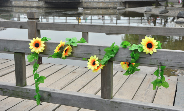 Medium sunflower flower vine artificial rattan qihii artificial flower artificial flower vine
