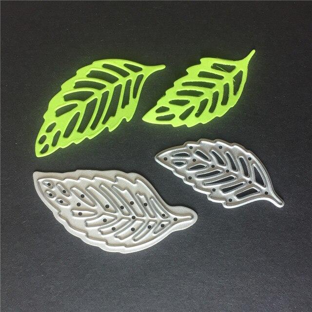 Leaves pattern Scrapbooking cutting die  thin metal die cuts 35mm/45mm long