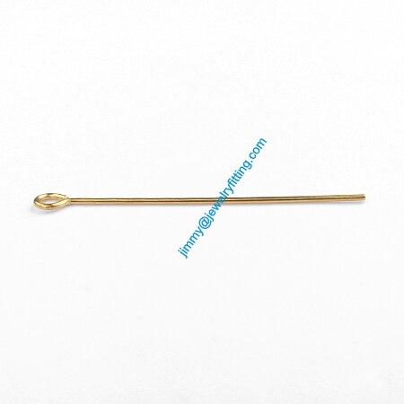 Ювелирных Изделий выводы Глаз Медными Штырьками Pins; Шарф Pins выводы 0.7*35 мм