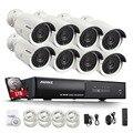 Annke 8ch 1080 p poe ir câmera ip poe nvr kit com 8 PCS 2.0MP IP66 À Prova D' Água Câmera Gravador de Telefone Visão Remota P2P CCTV sistema