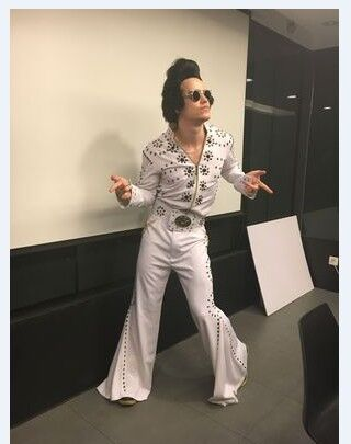Elvis Presley Uomini Halloween Cosplay Costume Fatto A Mano di Alta Qualità Cliente Ha Fatto Cosplay Cantante Ballo in Costume Set