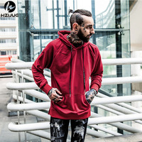 HZIJUE 2018 New Men Hip Hop Hooded Coats Sweatshirts New Hot Sale Autumn Winter Pollover Cotton