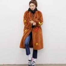 2017 Fashion Girls Korea Designer Winter Long Faux Fur Coat Ladies Plus Size Warm Clothes Outerwear for Women Black Green Brown
