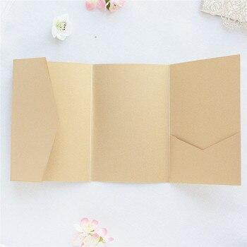 Quarter folder envelopes wedding invitation gold burgundy multi colors customized printing available 50pcs