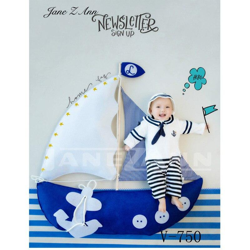 Jane Z Ann bébé photographie vêtements 3-6 mois bébé ballon marin astronaute studio photo accessoires vêtements + accessoires