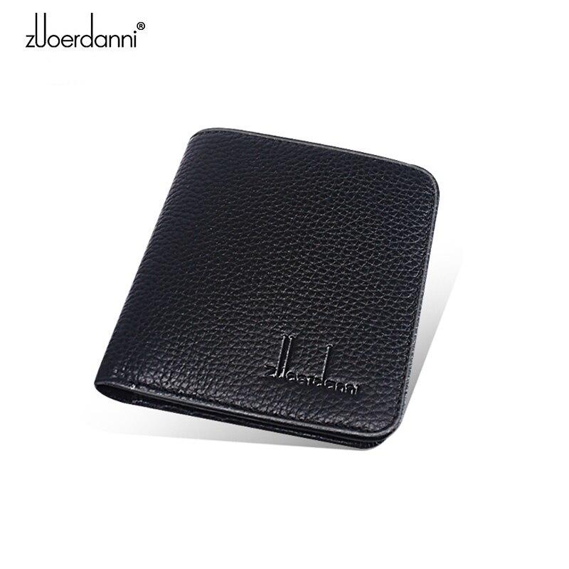 Купить с кэшбэком wallet men short Ultra-thin mini purse Retro leather female slim wallet high quality vertical fashion style A605