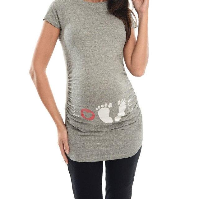 15d5f0245083c Купить Беременность и материнство   Maternal Printed Short Sleeve ...