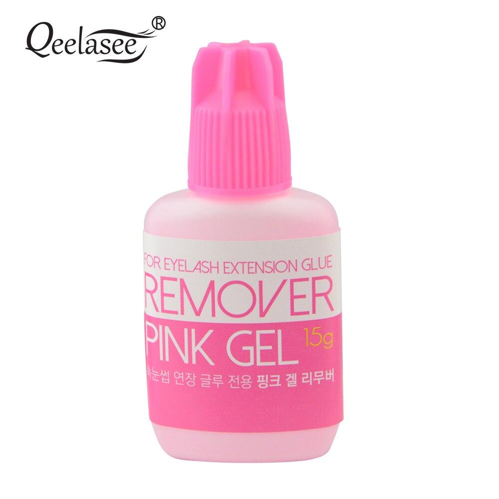15ml Pink Gel Remover for Eyelash Extension Glue from Korea Removing Eyelash Extensions