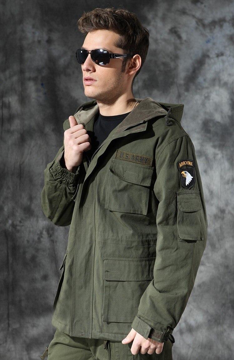 Pilot Aéroportée Hommes Hiver Chaud Blouson army Veste Manteau Moto Militaire Fly Force Air Noir 101 Green Army Tactique qvp8Aftw