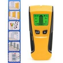 ST250 3-в-1 дерева детектор металла Подсветка ЖК-дисплей Портативный ручной AC Live провода детектор стены сканер