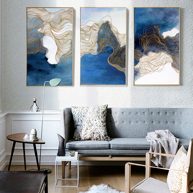 3 Stücke Wand Kunst Leinwand Malerei Gedruckt Landschaft Bilder Poster  Hause Dekoration Für Wohnzimmer Abstrakte Kunst
