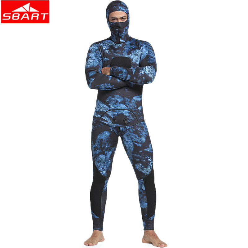 SBART 3mm Neoprene Wetsuits Camouflage Two-pieces Keep Warm Diving Wetsuits Swimming Snorkeling Spearfishing Scuba Diving Suits sbart upf50 rashguard 2 bodyboard 1006