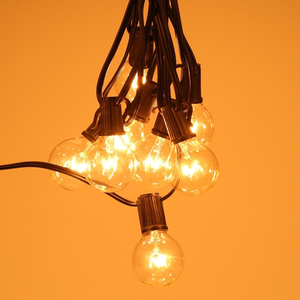 String light company incandescent light bulb pack of 25 - Tomshine Vde Listed Ac220v 175w 25ft E12 Base G40 Pack Of 25 Globe Bulbs Incandescent String