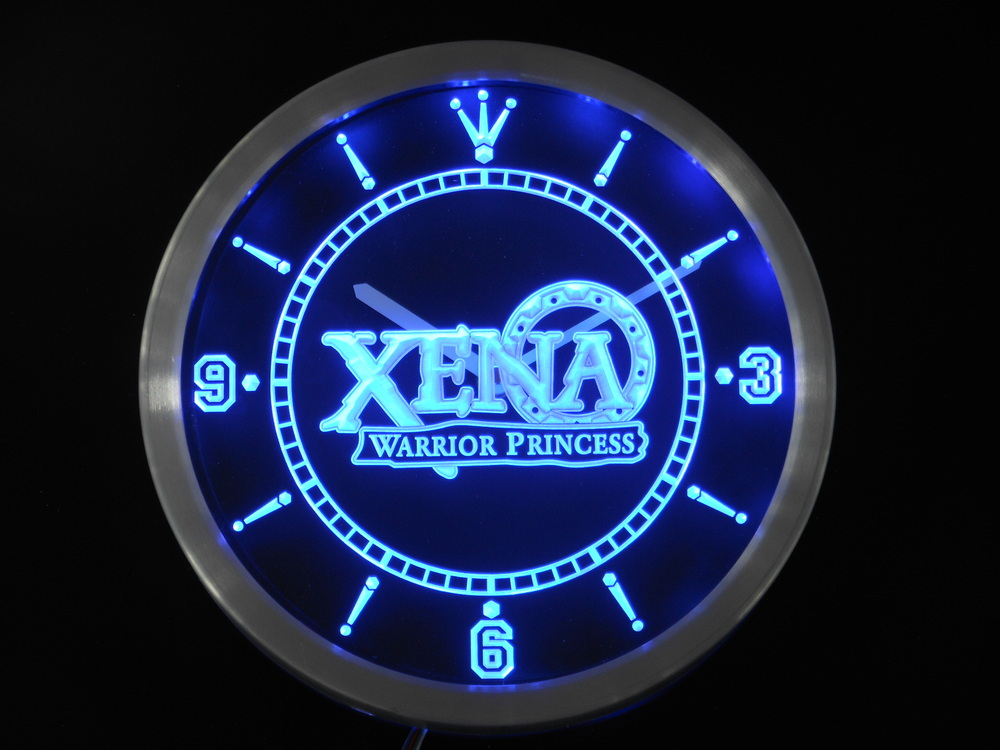 Nc0239 Xena Warrior Princess Neon Light Signs LED Wall Clock