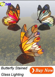 Butterfly Stained Glass Light