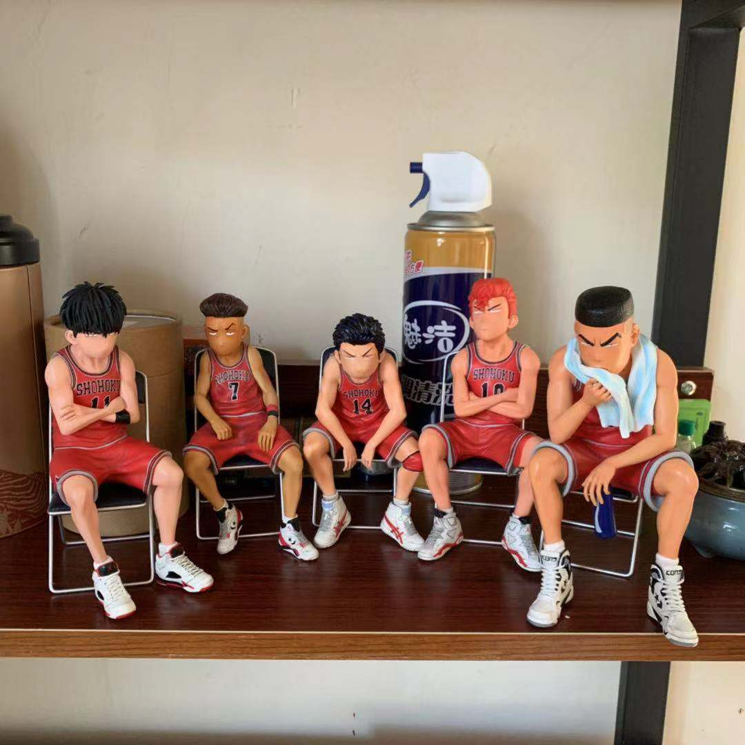 SLAM DUNK Shohoku Basketball Player Anime Figure Doll Hanamichi Sakuragi Rukawa Kaede Model image