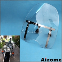 18x16 Adjustable Wind Deflectors Motorcycle Windshield Windscreen For Honda Suzuki Kawasaki Yamaha Cruisers Standards 1969 2017