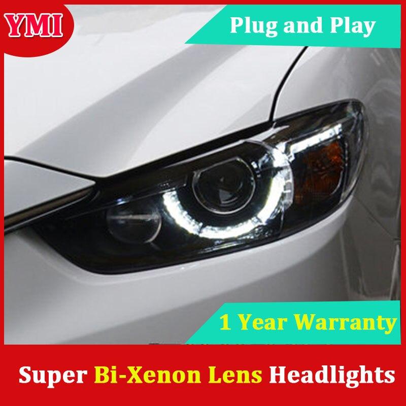 Car Headlamp For Mazda Atenza Mazda6 Headlights 2014 2016 LED Mazda 6 Headlight DRL Lens Double