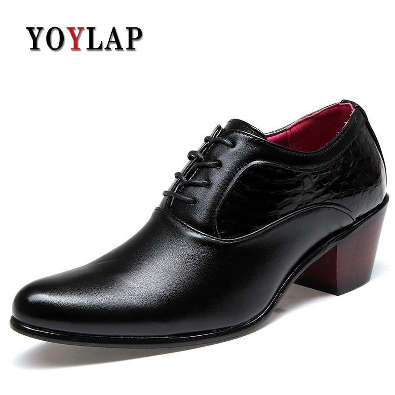 mens leather pointy toe shoes ankle boots oxfords dress formal cuban heel pumps