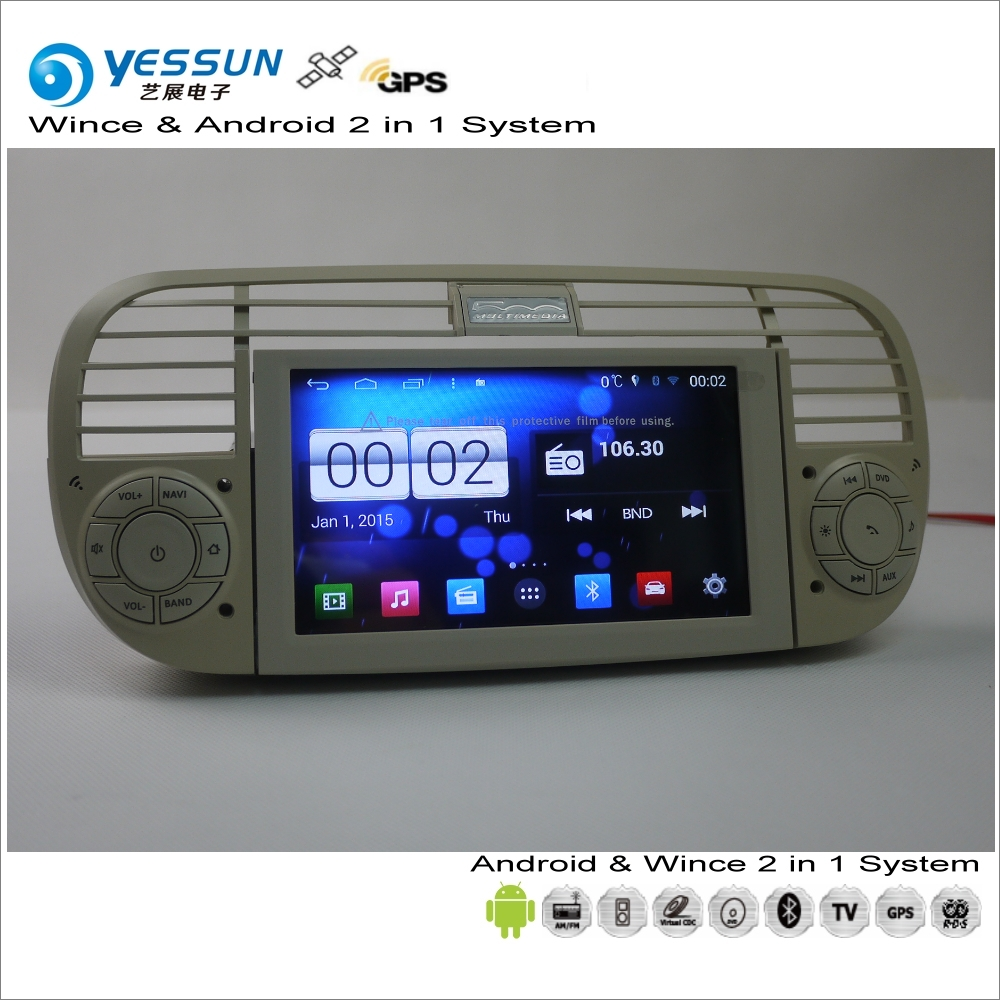 YESSUN For Fiat 500 2007~2016 Car Android Multimedia Radio CD DVD Player GPS Navi Map Navigation Audio Video Stereo S160 System