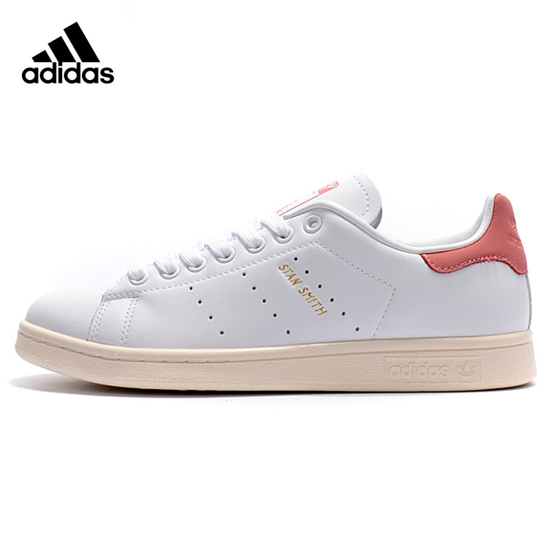 Original Authentic Adidas Clover STAN SMITH Men and Women Skateboarding Shoes Wear-resistant Lightweight Breathable Flat S80024 adidas clover gazelle men s and women s walking shoes pink breathable wear resistant lightweight non slip bb5264