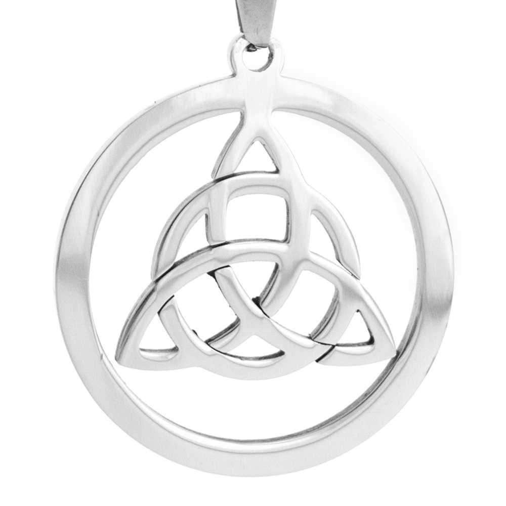 Keltic Knot Round pendants Triangle pendant DIY Jewelry making charms for women both sides mirror polished Stainless steel 1pcs
