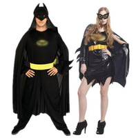 Batman Cosplay Costume With Mask Man Woman Adults Suits Superhero Jumpsuits Dress Cloak Masquerade Halloween Party Performance