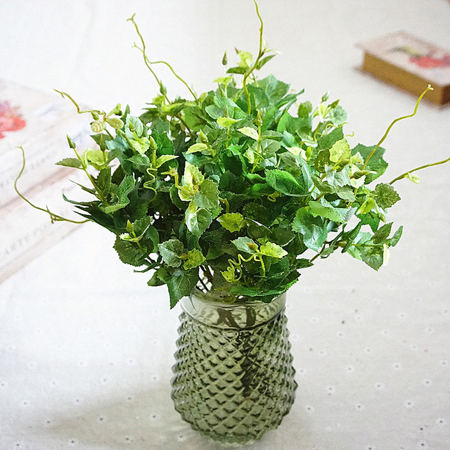 artificial silk ivy leaves greenery plants bouquet flores for home