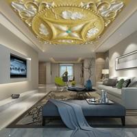 Özel 3D photo duvar Lüks Kraliyet Kabartmalı Desen Otel lobi yatak odası Tavan Dekorasyon Özel duvar Kağıdı duvar
