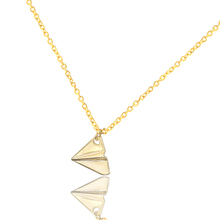GORGEOUS TALE Modern Jewelry Vintage Collier Femme Paper Plane Necklace Airplane Pendant Maxi Necklace For Women Tattoo Choker