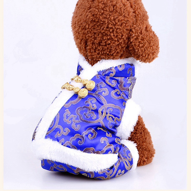Systematic Pet Dog Winter Coat Warm Four Legs Clothing Set Novelty Funny Festival New Year Costume Jackets Puppy New Year Clothing Dog Coats & Jackets Home & Garden