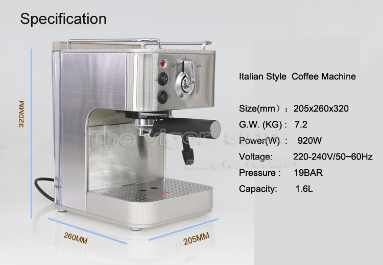 Free Shipping Semi Automatic Italian 19 Bar Cuccino Espresso Coffee Maker Home Making Machine In Makers From Liances On