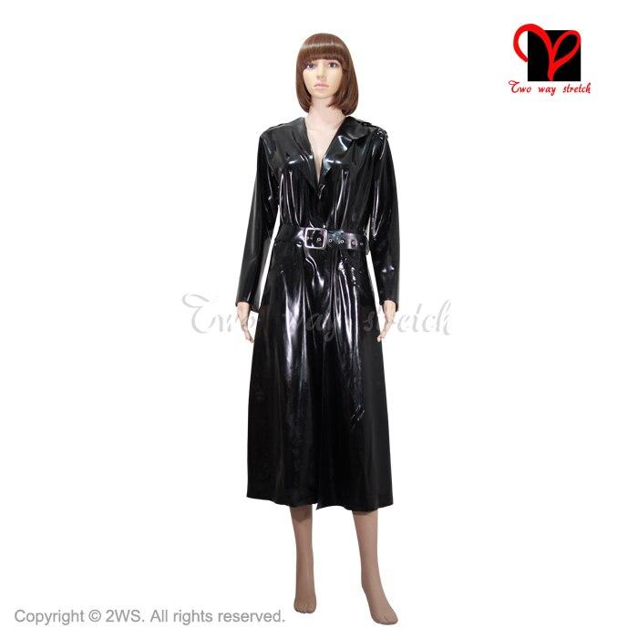 Outfit Dy Ärmeln Gummi Us176 Schwarz Rubber Top Langen Plus Xxxl 9sexy Übergroßen Latex Mantel Graben Cosplay Mit Größe Matrix g67fyb