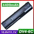 4400 mah batería para hp 482186-003 484170-001 hstnn-ub72 hstnn-ub73 para pavilion dv6-1400 dv6-1300 dv6-2000 dv6-2100 dv6t dv6z