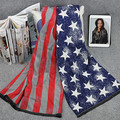 2015 new fund of 2015 autumn wintersthe flag of the pentagon stars graffiti tie-dye large shawl, new scarf, cashmere scarf