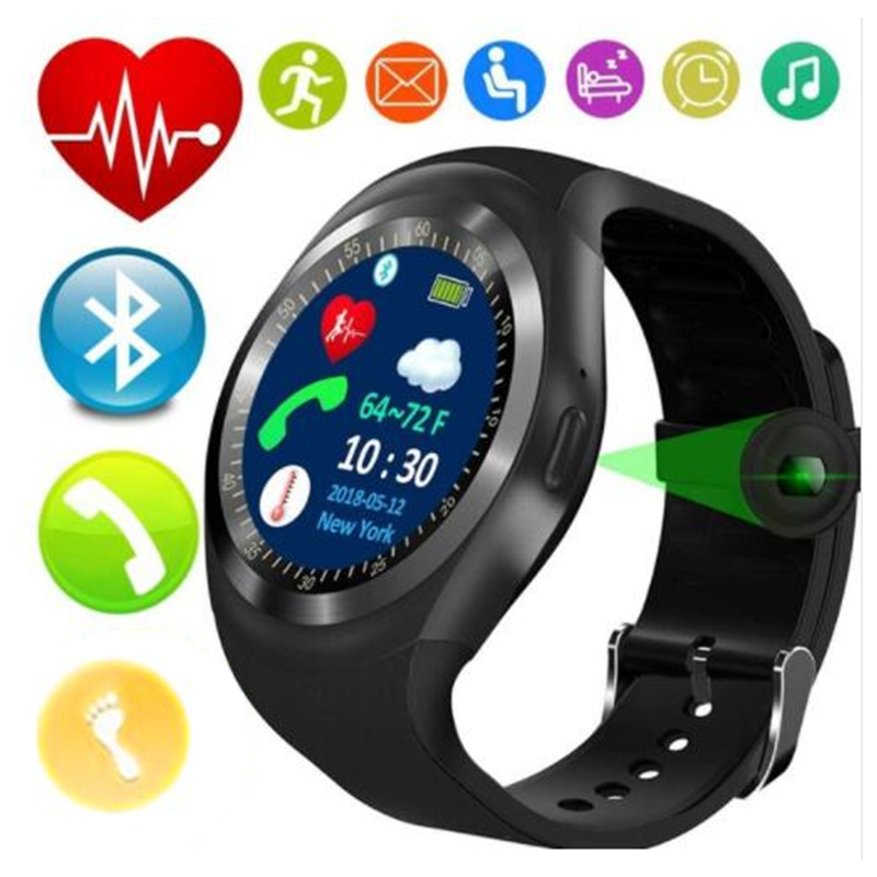 fdb4f9813 2018 Best T1 Wearable Fitness Tracker Bluetooth Smart Watch Phone Smartwatch  for Men Women Android Fashion