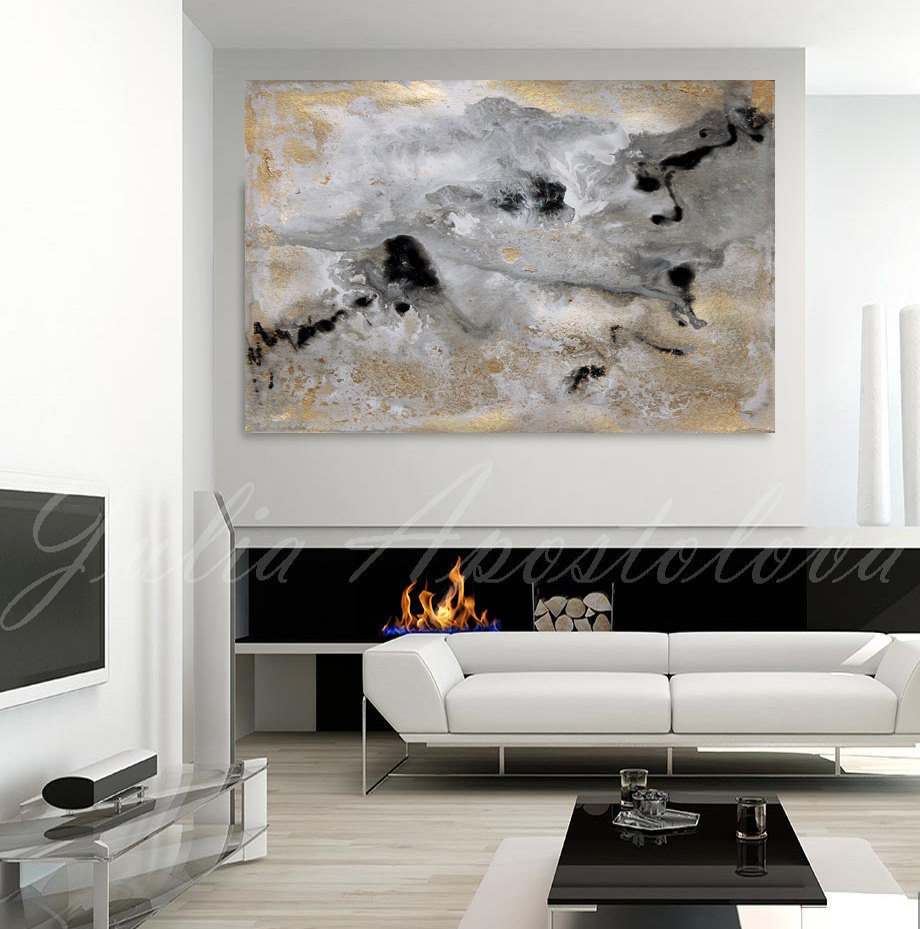 Handmade high quality thick knife abstract oil painting Turbulent river abstract on Canvas Painting Decor Oil Painting artwork