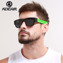 KDEAM 2019 New Circle Round Sunglasses Polarized For Men and Women Outdoor Fold Sun Glasses Portable With case Anti gafas de sol