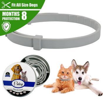 New Pet Dog Collar Anti Flea Ticks Mosquitoes Outdoor Adjustable Pet Collar Cat Dog Accessories 8 Months Long-term Protection