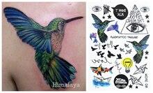 #392 Hummingbird Electric Bulb Paper Boat Eye Temporary Body Tattoo Unisex Body Paint
