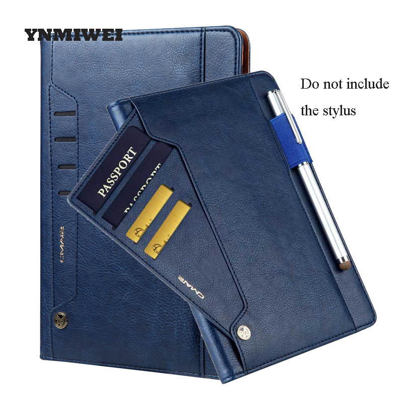 For Apple Ipad Pro 10.5 2017 Tablet Protective Cover Vintage Business Style With Passport Case Card Slot Leather Shell YNMIWEI vintage recorder passport set 3d stereo document card пакет як падарунак для жанчын