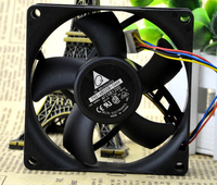 The New Delta 80 80 20 8CM 12V0 75A Dual Ball PWM 4 Pin Fan Automatic