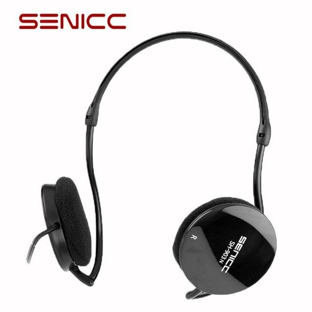 Original SENICC SH-903N Sport Stereo Extra Bass Headset Neckband Over-ear headphone with mic for Mobile Phone Light Earphone