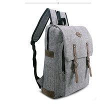 Fashion Unisex Canvas Backpack Korean Style Men and Women Bags Breathable Solid Color Dull Polish Bags