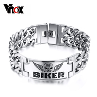 Fashion Stainless Steel Bracelets Bangles Personalized ID Charm Man Bracelet Vintage Attractive Men Jewelry
